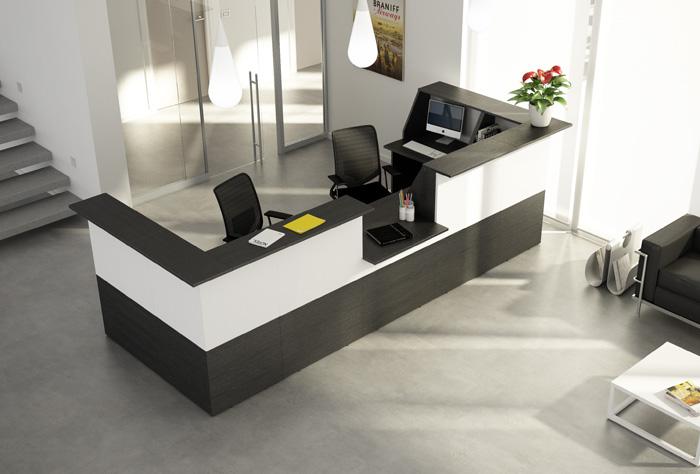 Reception ad angolo per ufficio in pronta consegna