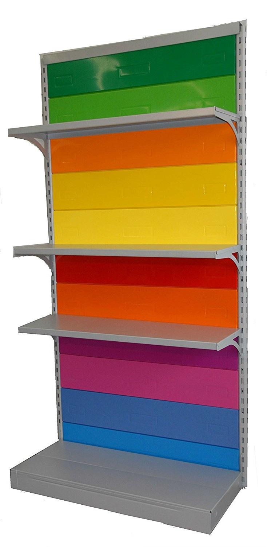 Scaffale multicolore per negozio