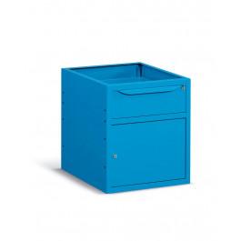 Cassetti metallici verniciati per banco lavoro per magazzino cm. 50x60,7x57h