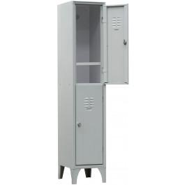 Armadietto sovrapposto a 4 posti con piano portascarpe cm. 35x35x180h