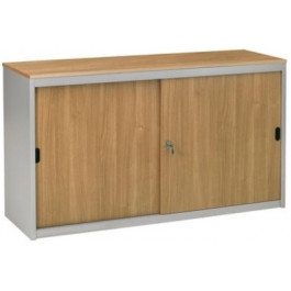 Armadio archivio ufficio ad ante scorrevoli in legno verniciato cm. 150x47x69h