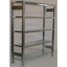 SCAFFALATURA metallica da magazzino Zincata cm. 120x30x200h