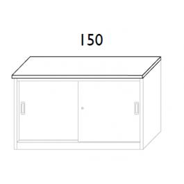 Top in nobilitato per sopralzo cm. 150x45x2h