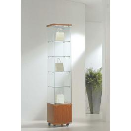 Vetrina da esposizione per negozi con mobile e faretti cm. 40x40x220h