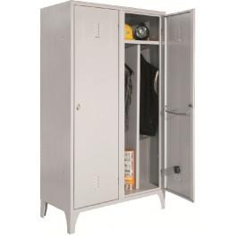 Armadio per spogliatoio 2 posti con divisorio interno a norma asl in metallo verniciato cm. 100x50x180h