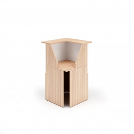 Reception bancone angolo a 90° colore ciliegio arabis