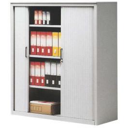Armadietto in metallo a serrandina per archiviazione documenti cm. 120x45x150h