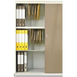 Armadio archiviazione documenti con ante scorrevoli in melaminico cm. 120x47x155h