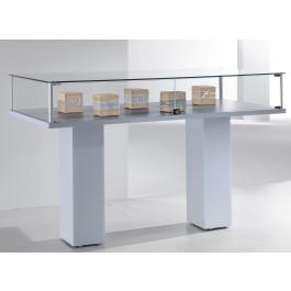 Vetrina con piantana silver per negozio abbigliamento cm. 117x51x104h