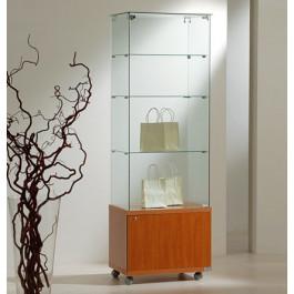 Vetrina per esposizione con mobile basso in legno cm. 60x40x180h
