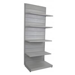 Scaffale metallico verniciato alluminio per arredare negozi cm. 97x60x250h
