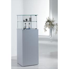 Vetrina espositiva su piedini con un piano interno regolabile e mobile senza anta cm. 45x45x135h