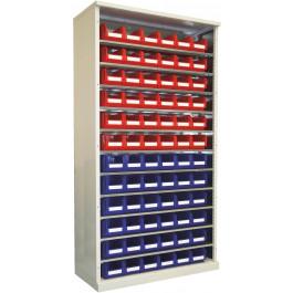 Armadio con contenitori e piani regolabili per minuteria cm. 70x52x195h