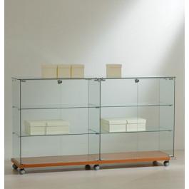 Vetrina espositiva per negozi cm. 157x40x90h