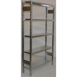 SCAFFALATURA metallica da magazzino Zincata cm. 80x30x200h