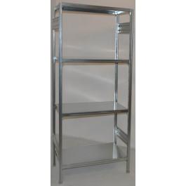 SCAFFALATURA metallica da magazzino Zincata cm. 80x40x200h