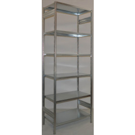 Scaffalatura metallica da magazzino zincata cm. 80x60x300h