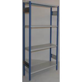 Scaffalatura ad incastro scaffalatura da magazzino cm. 80x30x180h