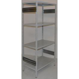 SCAFFALATURA metallica da magazzino Verniciata colore GRIGIO cm. 80x60x200h