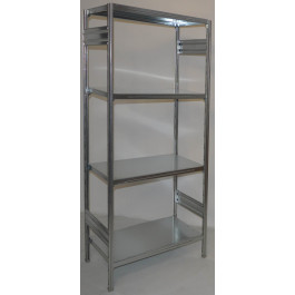 SCAFFALATURA in metallo per magazzino Zincata cm. 80x60x200h