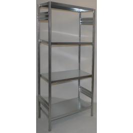 SCAFFALATURA metallica da magazzino Zincata cm. 80x80x200h