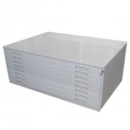 Portadisegni in metallo a 8 cassetti orizzontali per fogli A0 cm. 140x96,5x42h