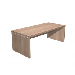 Scrivania direzionale da ufficio in legno verniciato cm. 180/210x90x74h