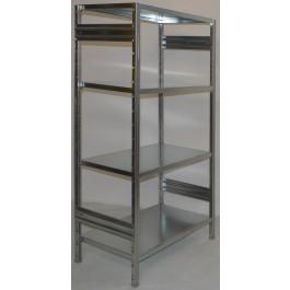 SCAFFALATURA di metallo per magazzino Zincata cm. 91x80x200h
