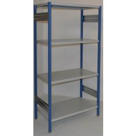 Scaffalatura in metallo per magazzino verniciata cm. 91x60x180h