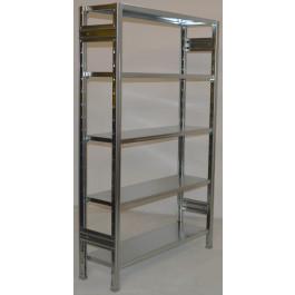 SCAFFALE in metallo da magazzino Zincata cm. 91x30x200h