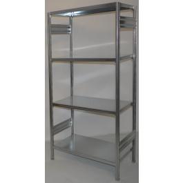 Scaffale in metallo zincato per industria scaffalatura metallica cm. 91x70x200h