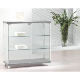 Vetrina vetrinetta espositiva con piani in vetro regolabili in altezza cm. 93x39x92h