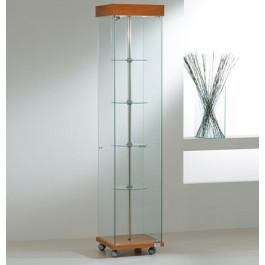 Vetrina da esposizione con faretti e piani girevoli interni cm. 40x40x187h