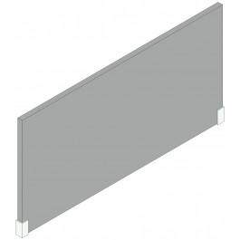 Schermo divisorio con 1 coppia di staffe per scrivania cm. 80x1,8x40h