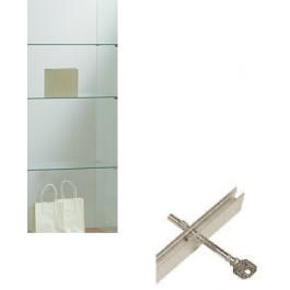 Sostituzione Ante scorrevoli con serratura a spillo binario su vetrine di larghezza cm. 117/157