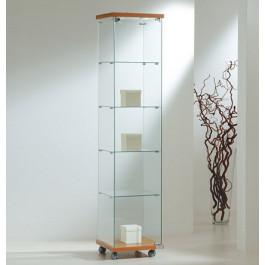 Vetrina per esposizione negozi con faretti cm. 40x40x181h