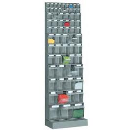 Scaffale con base con cassette per minuterie