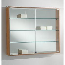 Vetrina da esposizione per negozi a muro cm. 95x15x81h