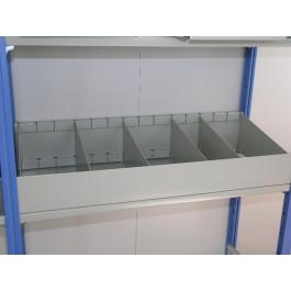 Cassettiera metallica a 3 separatori 80x30 cm VERNICIATA