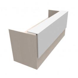 Composizione lineare reception in legno per ufficio acero nordic
