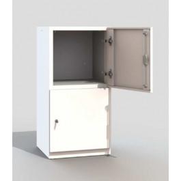 Armadio a 2 ante in metallo verniciato personalizzabile per uffici cm. 45x45x95h