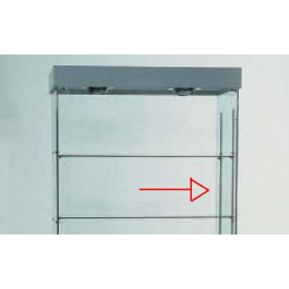 Cremagliera per regolazione ed aggiunta piani, per vetrina h180-220
