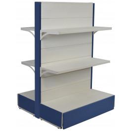 Scaffale metallico per negozio verniciato avion e bianco cm. 97x40x140h
