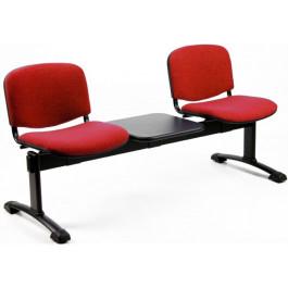 Panchina con sedute in tessuto da sala d'attesa