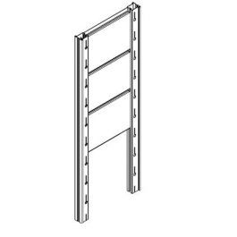 Disegno tecnico Tamponatura laterale zincata per scaffale magazzino CAST