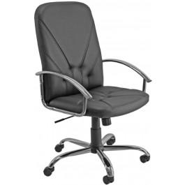 Poltrona ergonomica girevole in ecopelle nera da ufficio