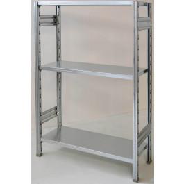 SCAFFALATURA metallica da magazzino Zincata cm. 80x30x150h