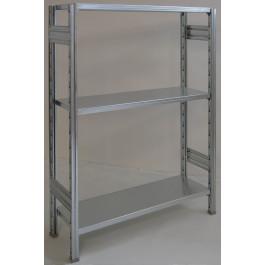 Scaffale in metallo zincato scaffalatura metallica zincata cm. 120x30x150h
