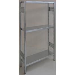 Scaffalatura a ripiani scaffalatura ad incastro cm. 80x40x150h