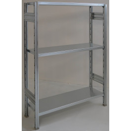 SCAFFALATURA metallica da magazzino Zincata cm. 100x30x150h